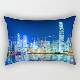 Hightech City Reflection Rectangular Pillow