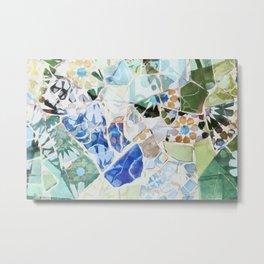 Mosaic of Barcelona VII Metal Print
