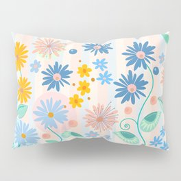Decorative flowers and leaves Pillow Sham