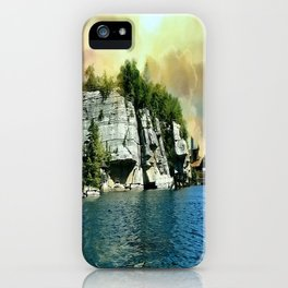 Golden Sky Over the Mountain - Mohonk iPhone Case