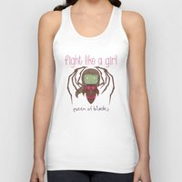 starcraft Tank Tops featuring Fight Like a Girl - Starcraft's Infested Kerrigan by ~ isa ~