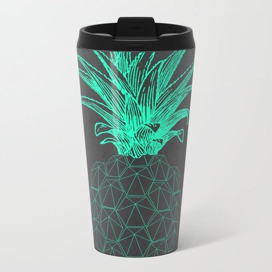 pineapple got the blues Metal Travel Mug