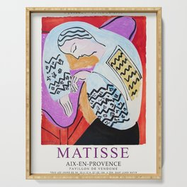 Henri Matisse - The Dream Paris Exhibition - Aix-en-Provence, France Advertisement Poster Serving Tray