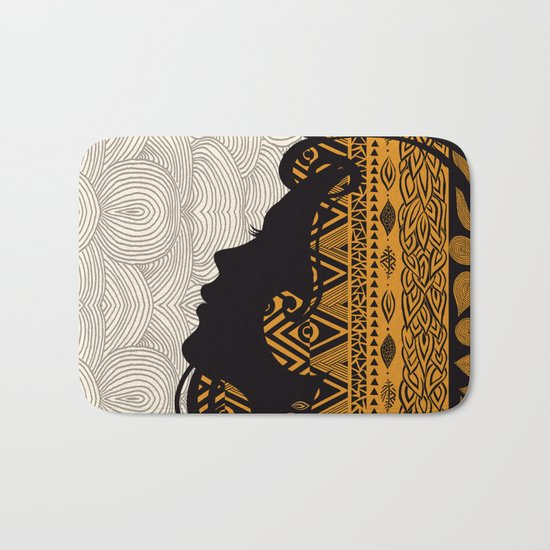 Tribal Dreams by Pom Graphic Design & Viviana Gonzalez Bath Mat