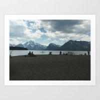 On the Shores of Jackson Lake Art Print