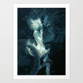 King Squid (portrait oriented) Art Print