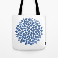 indigo Tote Bags featuring Indigo by Color and Form