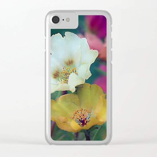 Flower duo Clear iPhone Case