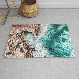 Aerial Ocean Print, Ocean Landscape, Beach Photography, Beach Print, Ocean Print, Ocean Water Rug