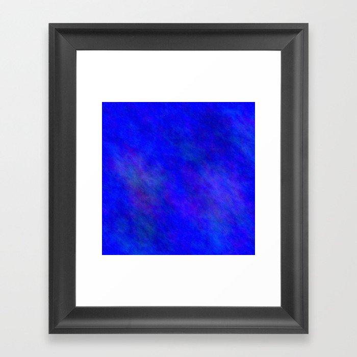 Blue Color Gerahmter Kunstdruck