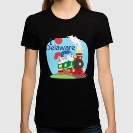 Ernest and Coraline | I love Delaware T-shirt