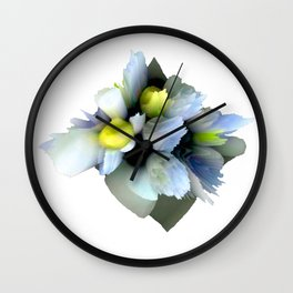pastel spring floral composition abstract 3d digital painting Wall Clock