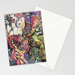 Nu skool tattoo Stationery Cards