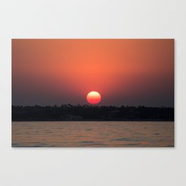 Really red sun Canvas Print