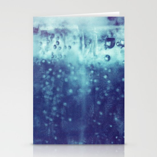 Blue and purple bubble clouds Stationery Cards