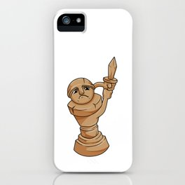 Pawn Chess piece at Chess with Sword iPhone Case