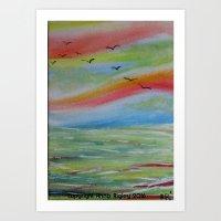 Peaceful Ocean Art Print