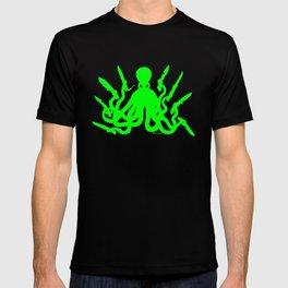Octopus 8 Knives (toxic green) T-shirt