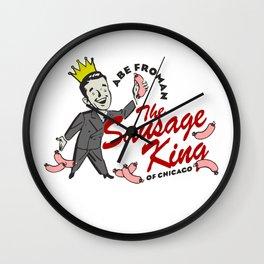 Abe Froman, Sausage King Of Chicago, Vintage 1986 T Shirt, Original Retro Design Wall Clock