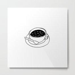 Coffee Eyes Metal Print