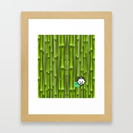 Bamboo Green HD by JC LOGAN 4 Simply Blessed Framed Art Print