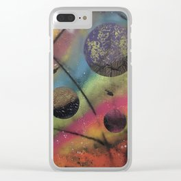 Colors of Space Clear iPhone Case