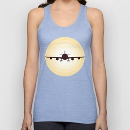Airplane Aviation Pilot Unisex Tank Top