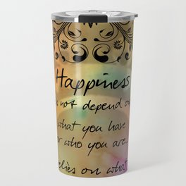 Zen Art Inspirational Buddha Quotes  Travel Mug