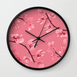 Watercolour Orchids VI Wall Clock