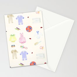 Baby Clothes Stationery Cards