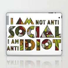 Social Sarcastic Typography Design Laptop & iPad Skin