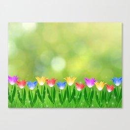 Floral happy spring Canvas Print