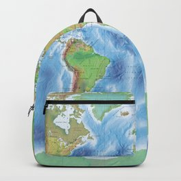 Physical world map with countries Backpack