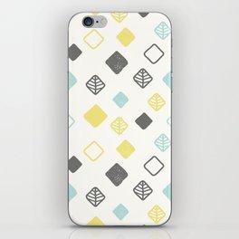 Aqua gray yellow abstract geometrical diamond pattern iPhone Skin