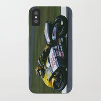 honda iPhone & iPod Cases featuring VALENTINO ROSSI RIDING A HONDA by Don Hooper