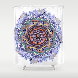 En Force Sri yantra Shower Curtain