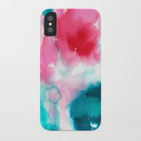 water color iPhone & iPod Cases featuring Water color by moniquilla