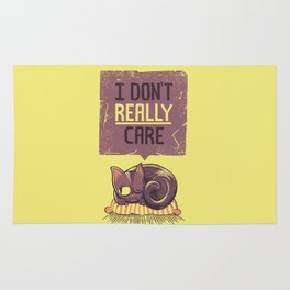 I Dont Care Cat Rug
