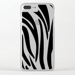 Zebra trendy design artwork animal exotic pattern Clear iPhone Case