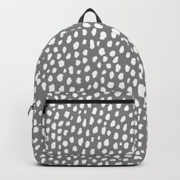 Gray Spots Pattern (white/gray) Backpack