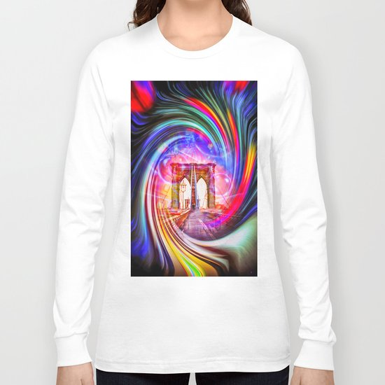 New York Brooklyn Bridge Long Sleeve T-shirt