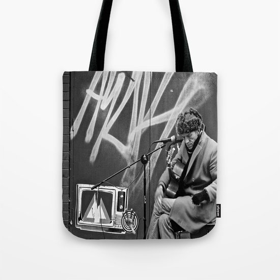 Busking in Belfast 2 Tote Bag