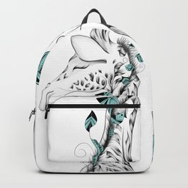 Poetic Giraffe Backpack