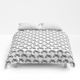 Grey Dirt Bikes Comforters