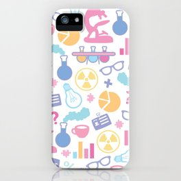 Pastel Science Pattern iPhone Case
