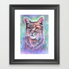 Whimsical Bobcat Framed Art Print