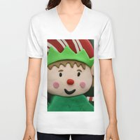 elf V-neck T-shirts featuring Vulcan Elf by IowaShots
