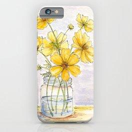 Yellow Cosmos, Still Life iPhone Case