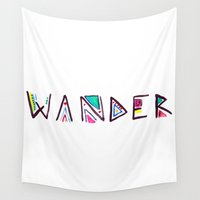 wander Wall Tapestries featuring Wander by Belinda O'Connell