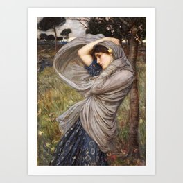 John William Waterhouse. Boreas. Art Print